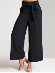 Ankle Length Wide Leg High Waisted Pants