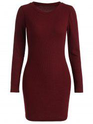 Ribbed Knitted Bodycon Dress -