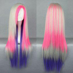 Long Side Part Straight Colormix Synthetic Cosplay Anime Wig