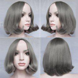 Middle Part Short Tail Adduction Straight Bob Synthetic Wig