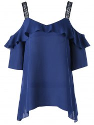 Cold Shoulder Frill Blouse