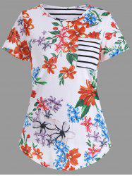 Pocket Floral Print T-Shirt