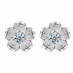 Faux Crystal Floral Shape Earring Jackets