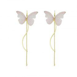 Butterfly Chain Pendant Fish Hook Earrings