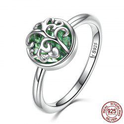 Heart Tree of Life Sterling Silver Ring