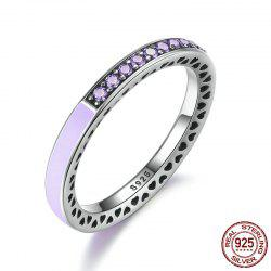 Sterling Silver Rhinestone Heart Ring - Violet Clair 8