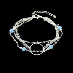 Layered Circle Beads Chain Bracelet