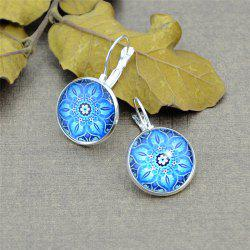 Ethnic Flower Pattern Clip On Earrings