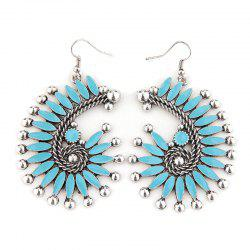 Alloy Floral Bohemian Hook Earrings