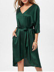 Oversized Satin Dress