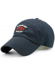 Letters Coconut Tree Embroidered Baseball Cap