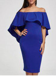Off The Shoulder Capelet Dress