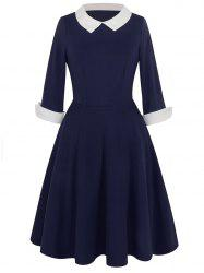 Vintage Two Tone Peter Pan Collar Dress
