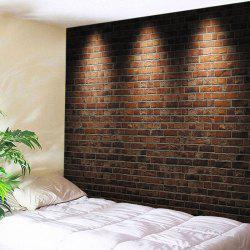 Lights Brick Wall Print Tapestry Wall Hanging Art Decoration - BRICK-RED