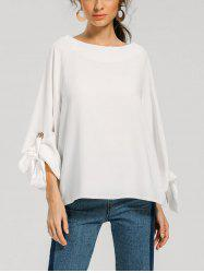 Bow Tie Sleeve Loose Blouse -