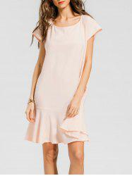 Flounces Keyhole Shift Dress -