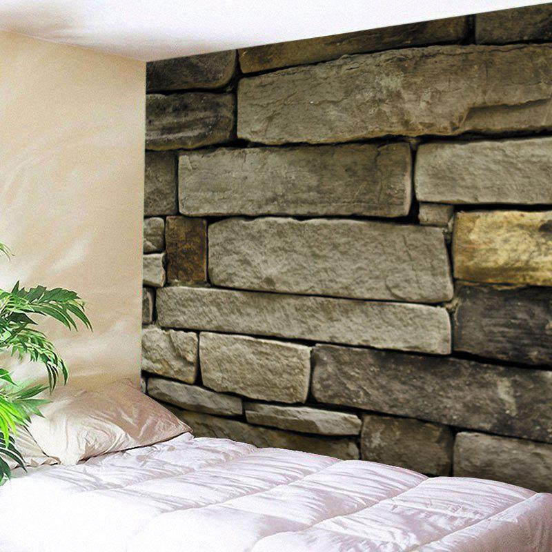 Stone Brick Wall Print Tapestry Wall Hanging Art DecorationHOME<br><br>Size: W79 INCH * L59 INCH; Color: EARTHY; Style: Vintage; Material: Polyester; Feature: Washable; Shape/Pattern: Print,Wall; Weight: 0.4500kg; Package Contents: 1 x Tapestry;