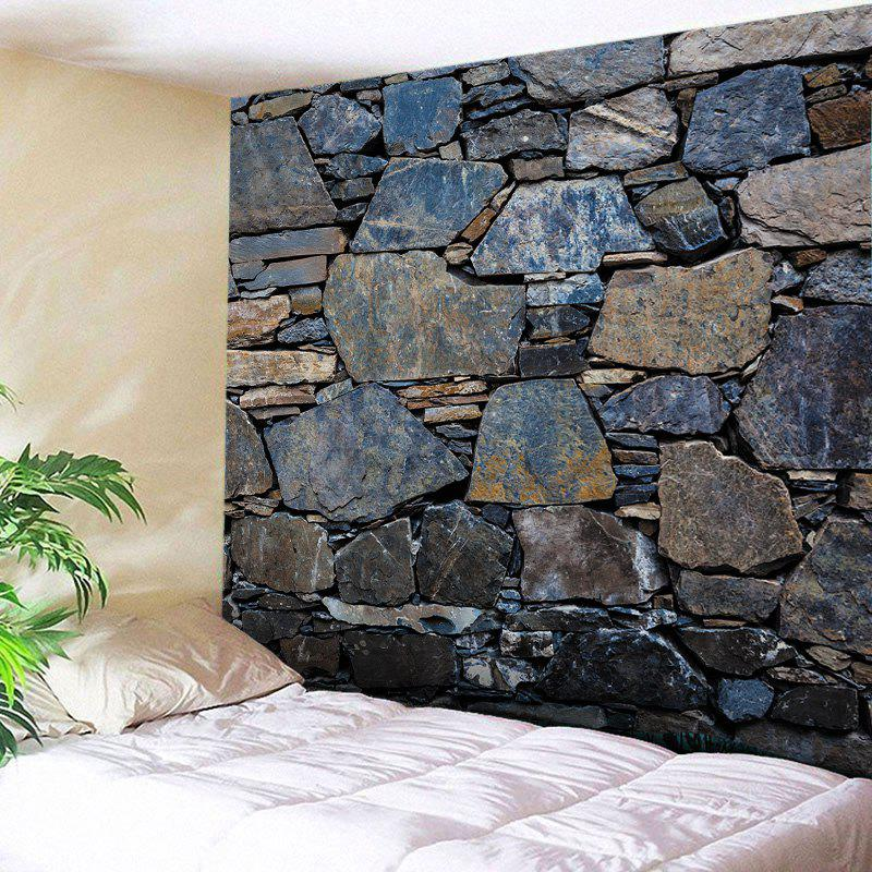 Stone Wall Print Tapestry Wall Hanging Art DecorationHOME<br><br>Size: W79 INCH * L59 INCH; Color: MIDNIGHT; Style: Vintage; Material: Polyester; Feature: Washable; Shape/Pattern: Wall; Weight: 0.4500kg; Package Contents: 1 x Tapestry;