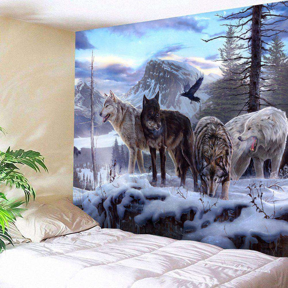 Wall Hangings Wolf Animals Printed Tapestry, Colormix