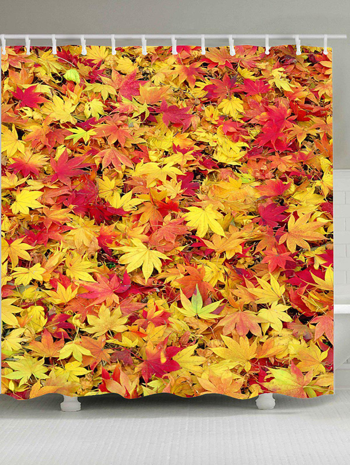 Falling Maple Leaves Shower Curtain For Bathroom
