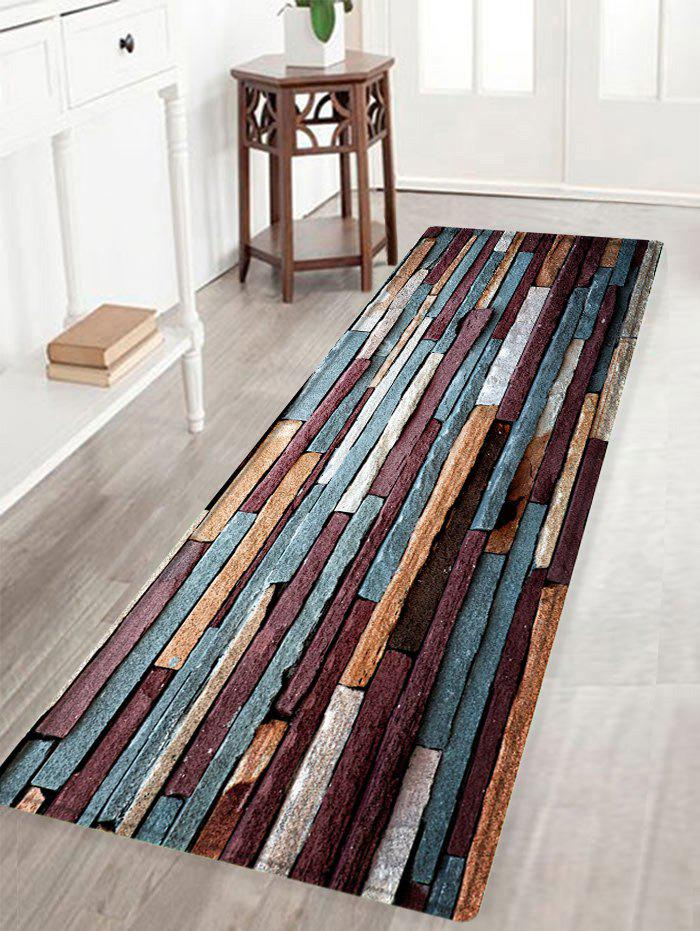 Brick Wall Pattern Anti-skid Water Absorption Area RugHOME<br><br>Size: W16 INCH * L47 INCH; Color: RED BROWN; Products Type: Bath rugs; Materials: Flannel,Sponge; Style: Trendy; Shape: Rectangle; Package Contents: 1 x Rug;