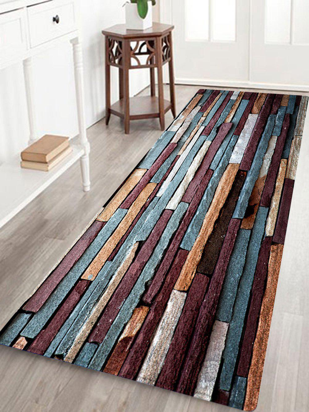 Trendy Brick Wall Pattern Anti-skid Water Absorption Area Rug