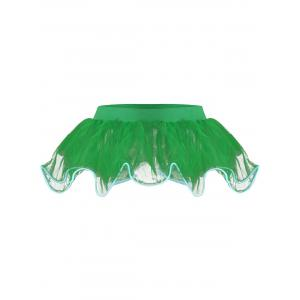 Mesh Tutu Light Up Cosplay Party Skirt - Green - One Size