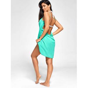 Double-Deck Chiffon Wrap Sarong Beach Cover Up -