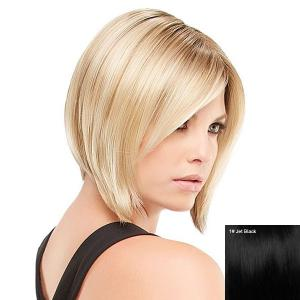 Short Inclined Bang Straight Inverted Bob Human Hair Wig