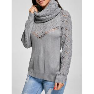 Sheer Buttoned Knit Convertible Sweater