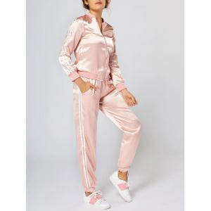 Long Sleeve Zippered Two Piece Tracksuit