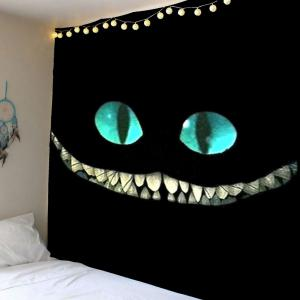 Home Decor Horror Smile Face Wall Hanging Tapestry - Black - W59 Inch * L51 Inch