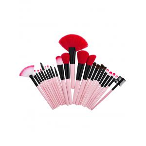 24Pcs Aluminum Tube Makeup Brushes Set