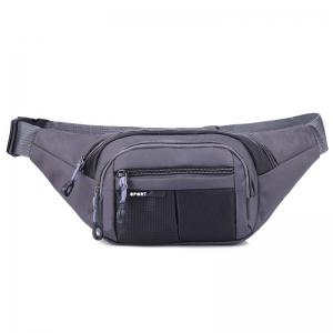 Color Block Unisex Waist Bag - Black - 44