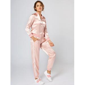 Striped Zippered Two Piece Tracksuit -