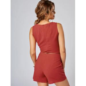 Knotted Sleeveless Top and Shorts Set - JACINTH M