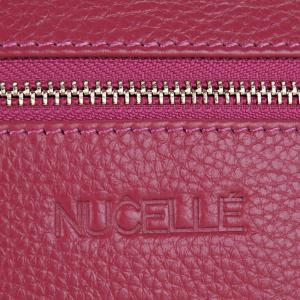 Zippers Faux Leather Wristlet - ROSE RED