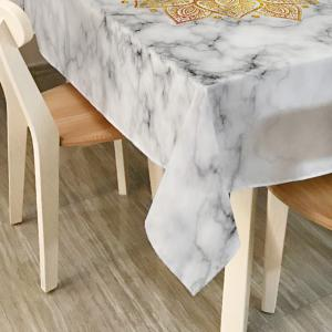 Mandala Marble Print Home Decor Table Cloth - WHITE W54 INCH * L72 INCH