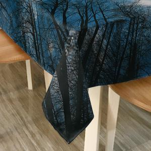 Starry Night Tree Print Fabric Dining Table Cloth -