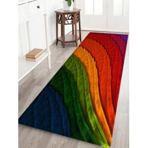 Colorful Leaves Pattern Anti-skid Water Absorption Area Rug