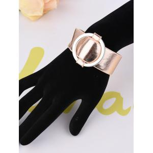 PU Leather Metal Circle Bracelet