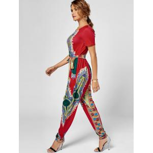 Tribe Print Jumpsuit - Rouge L
