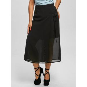 Plus Size Chiffon Wide Leg Culottes Pants