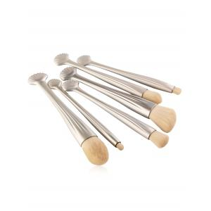 6Pcs Plated Shell Handle Face Eye Makeup Brushes