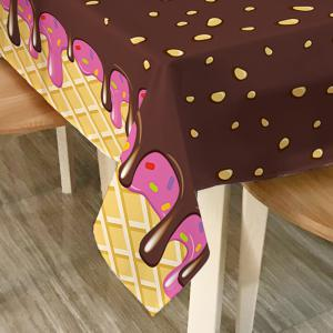 Chocolate Print Home Decor Fabric Table Cloth - CHOCOLATE W60 INCH * L84 INCH