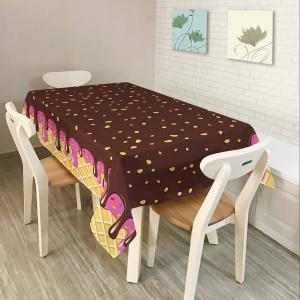 Chocolate Print Home Decor Fabric Table Cloth