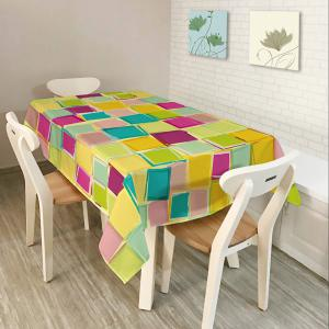 Colorful Plaid Print Home Decor Fabric Table Cloth