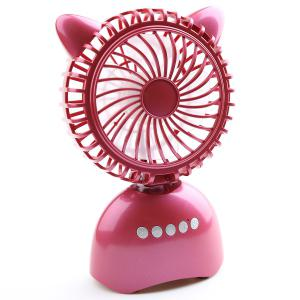 Wireless Bluetooth Speaker USB Portable Mini Desk Fan - PURPLISH RED 20*13*6CM