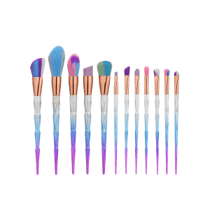 Matte Diamond Shape Ombre Handle Makeup Brushes Set -