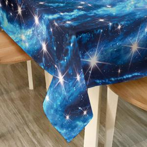 Starry Sky Print Fabric Waterproof Table Cloth -